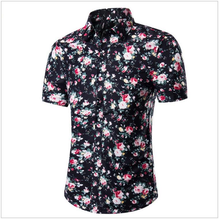 Pánská košile s krátkým rukávem / AT-00175e