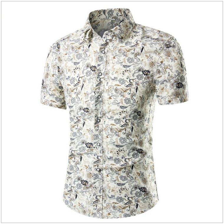 Pánská košile s krátkým rukávem / AT-00175f