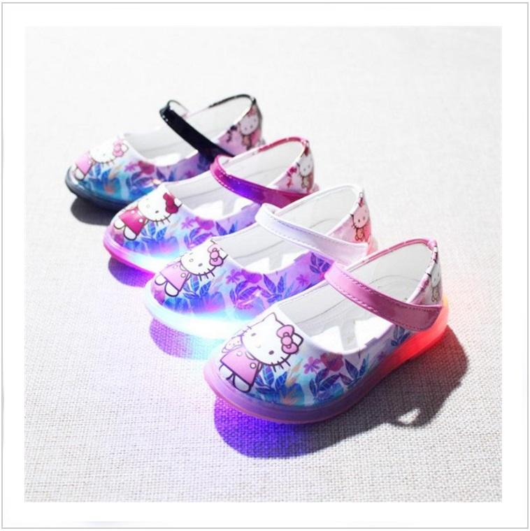 Dětská letní svítící obuv - Hello Kitty / AD-00229