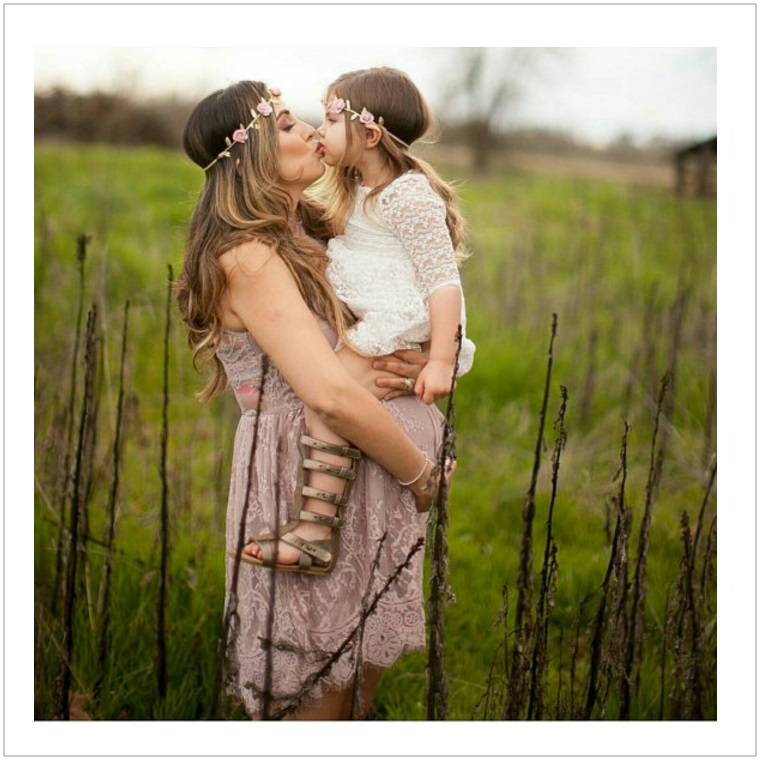 Květinová čelenka pro maminku a dítě / AD-00236