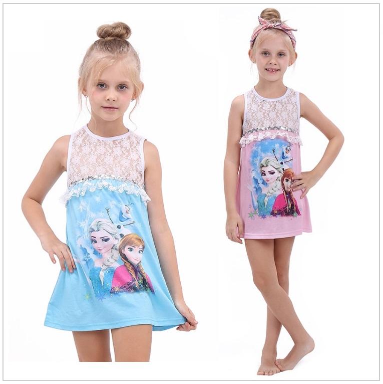 Dětské šaty - Ledové království / AD-002243