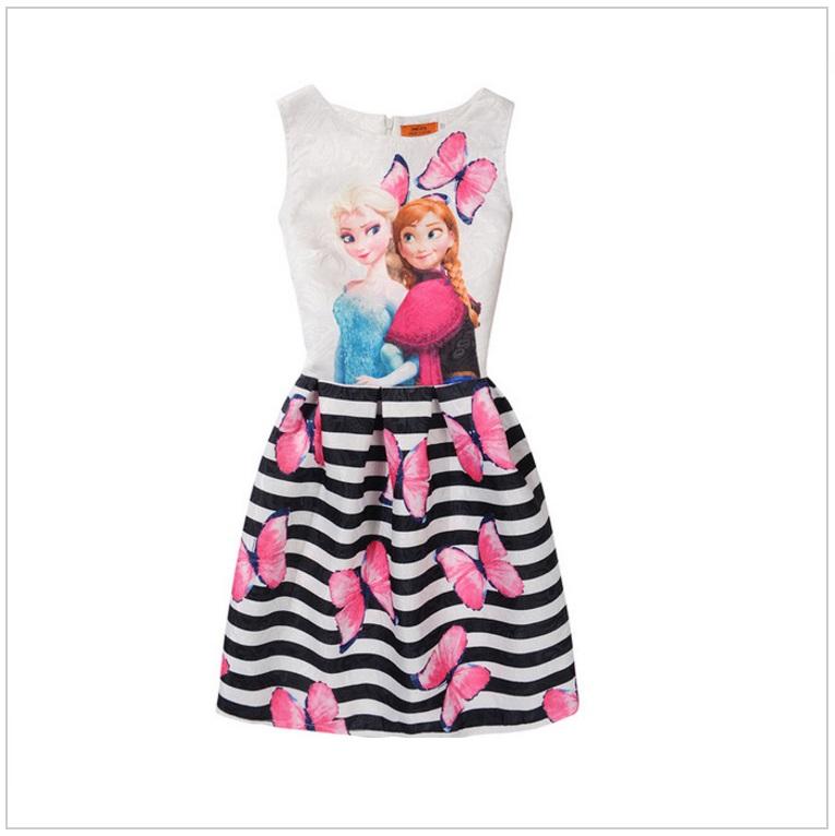 Dětské šaty - Ledové Království / AD-00244a