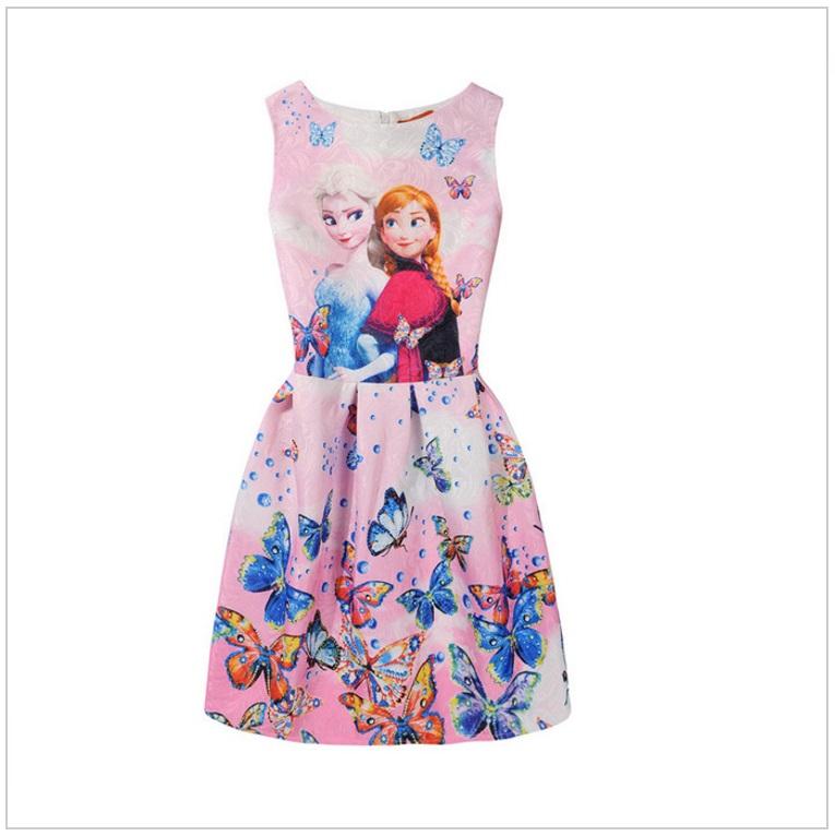 Dětské šaty - Ledové Království / AD-00244b