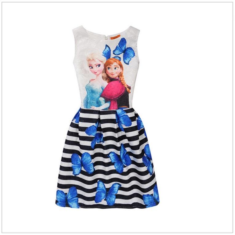 Dětské šaty - Ledové Království / AD-00244c