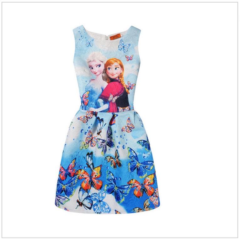Dětské šaty - Ledové Království / AD-00244d