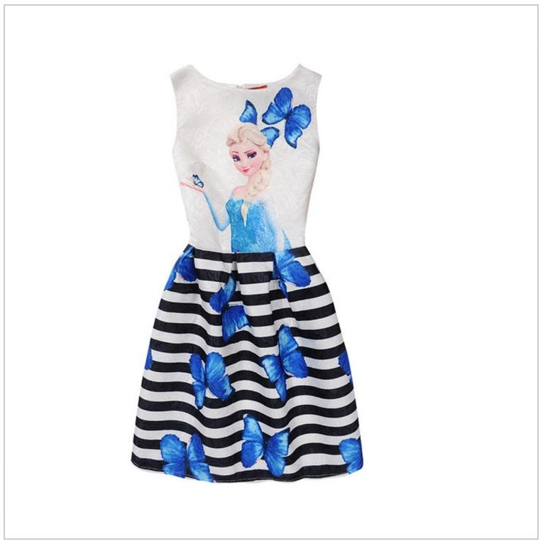 Dětské šaty - Ledové Království / AD-00244e