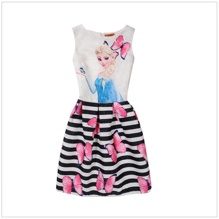 Dětské šaty - Ledové Království / AD-00244f