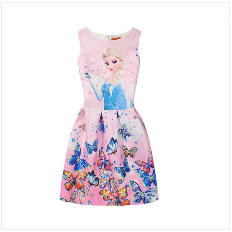 Dětské šaty - Ledové Království / AD-00244h