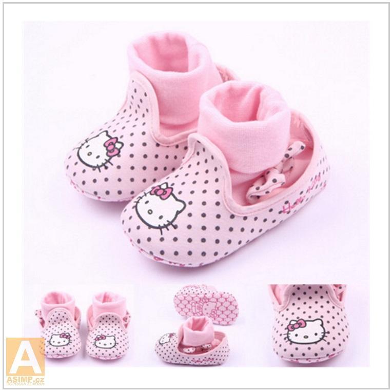 Dětské botičky - Hello Kitty / AT-00345