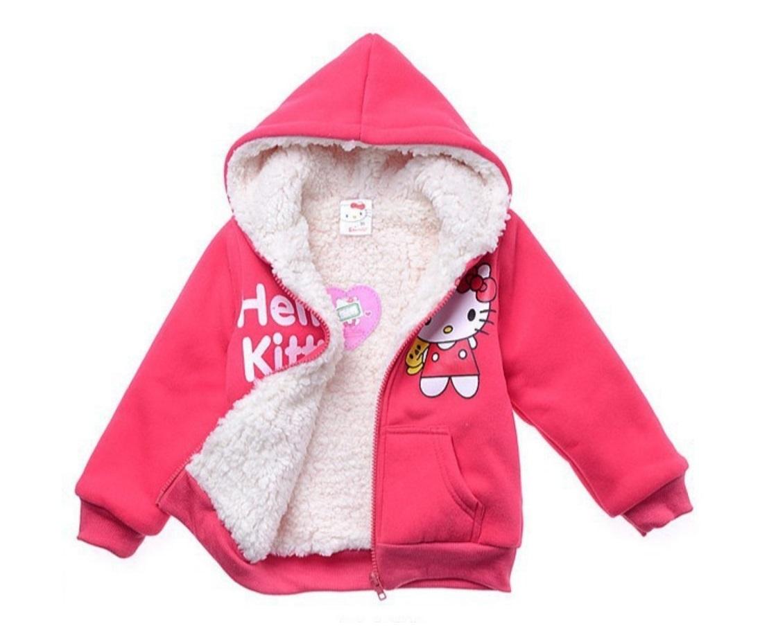 2e9cbe32973 Dětská zateplená mikina - Hello Kitty   dnk-13-01248