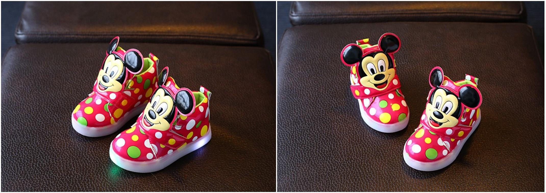 38baac90ae5 Dětské svítící boty - Mickey Mouse   AD-00212a   DOPRAVA ZDARMA