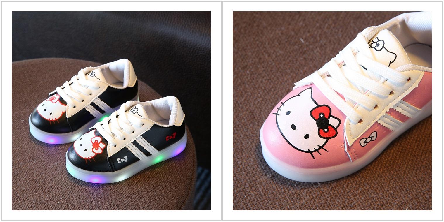 4b14cbaa284 Dětské svítící boty - Hello Kitty   AT-00514   DOPRAVA ZDARMA