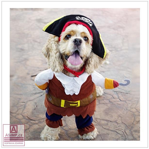 Pirátský obleček pro psy (L)