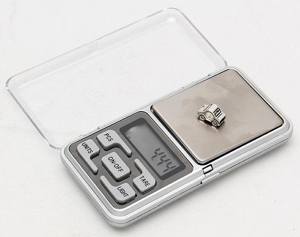 Kapesní digitální váha na šperky (do 200g) / 28-00002a