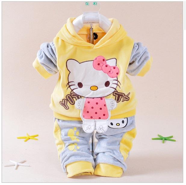 Dětská soupravička Kitty (žlutá)