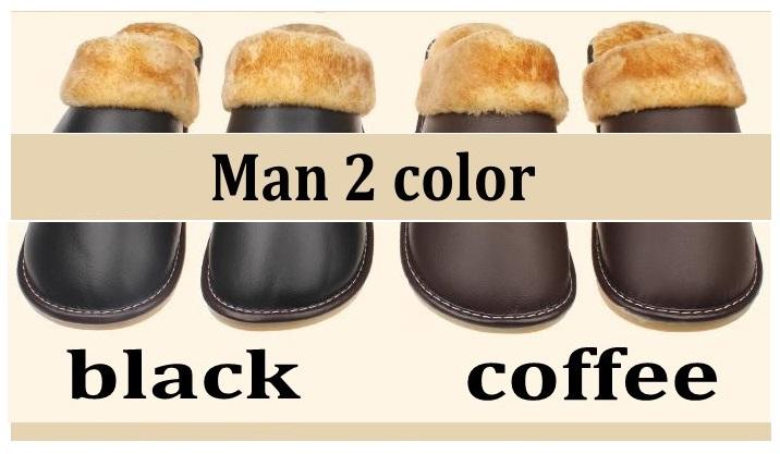 Kožené pánské pantofle