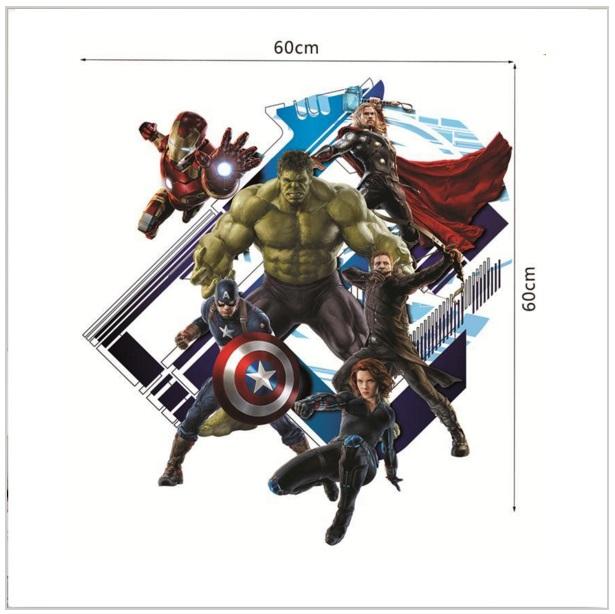 Samolepící tapeta Captain the Avenger 60 x 60 cm / AS1-00095