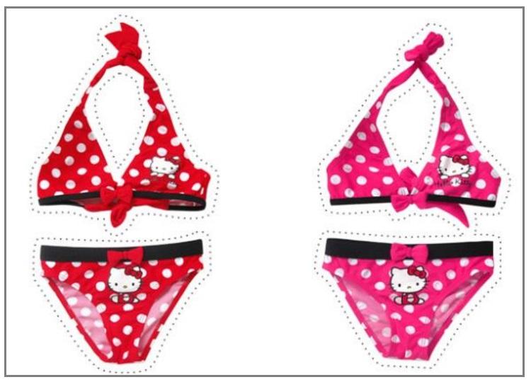 Dívčí dvoudílné plavky - Hello Kitty / d26-00003