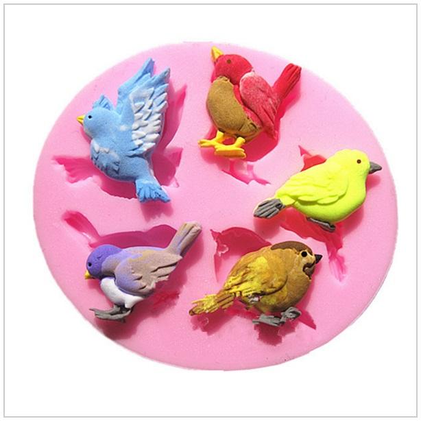 Cukrářská silikonová forma - Ptáčci / tnk-13-00019