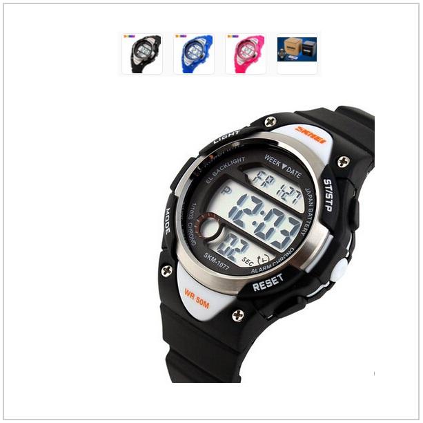 Dětské digitální hodinky - černé / tnk-13-00970