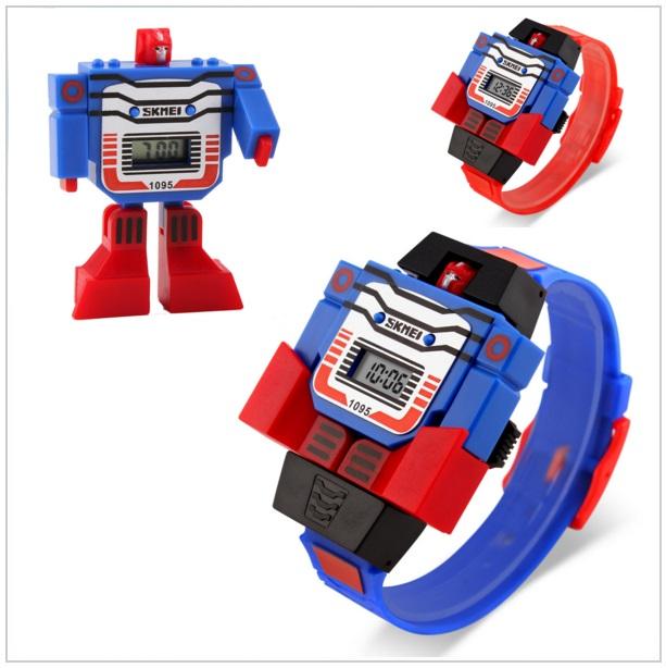 Dětské digitální hodinky - Skládací robot / tnk-13-00184
