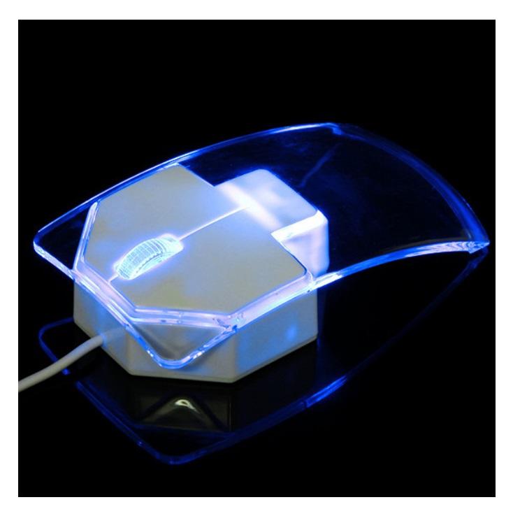 Průhledná kabelová myš / tnk-13-00406