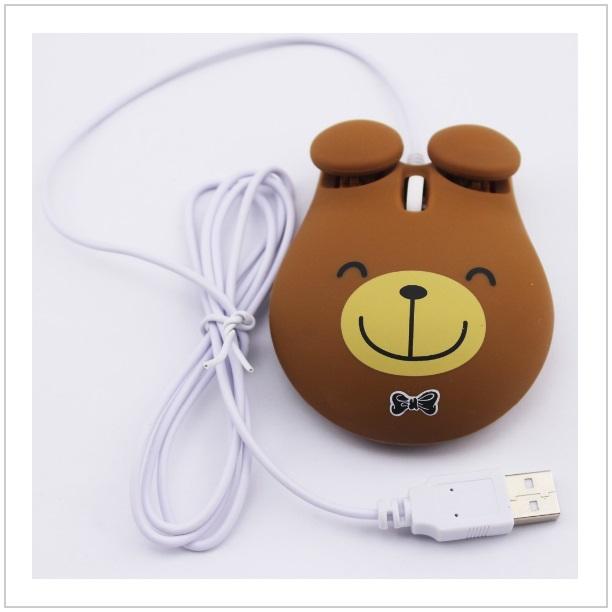 Optická kabelová myš - medvídek / tnk-13-01719a