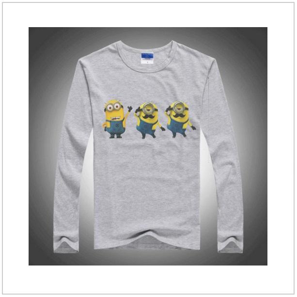 Dětské triko s dlouhým rukávem Mimoň - Gray