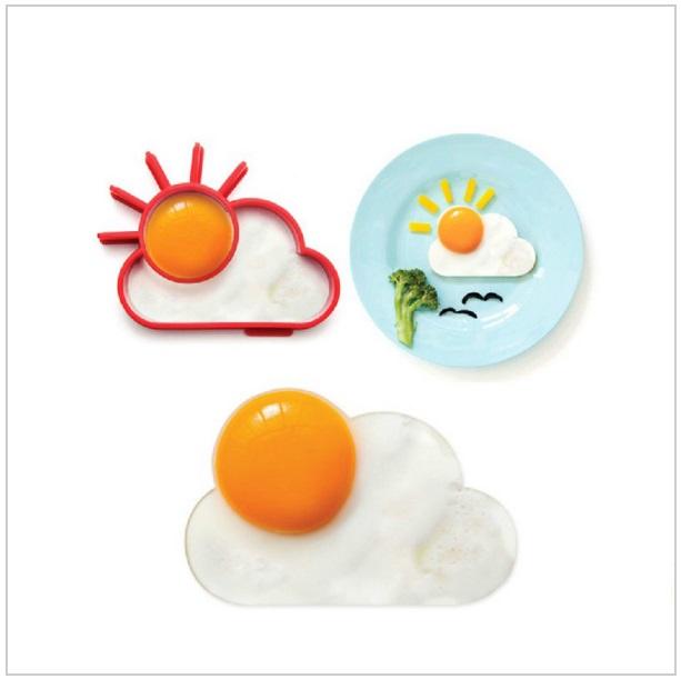 Silikonová formička na vajíčka - Slunce & mrak / tnk-13-00867