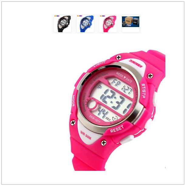 Dětské digitální hodinky - růžové / tnk-13-00972