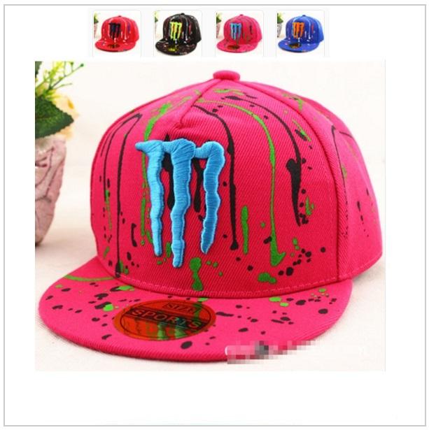 Dětská kšiltovka Monster - růžová / dnk-13-00467