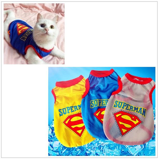 Obleček pro kočky - Superman / tnk-13-01320