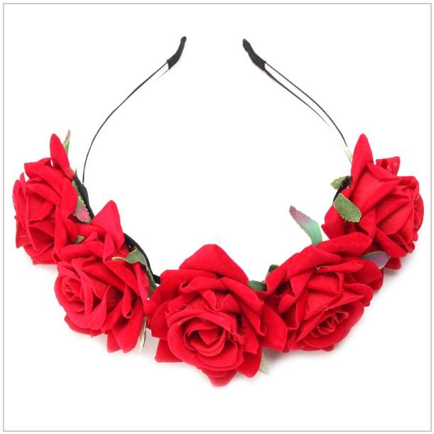 Květinová čelenka - růže / tnk-13-02004a