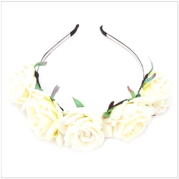 Květinová čelenka - růže / tnk-13-02004c