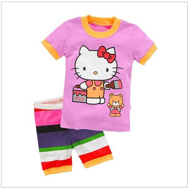 Dětské kraťasy & tričko - Hello Kitty / dnk-13-01101