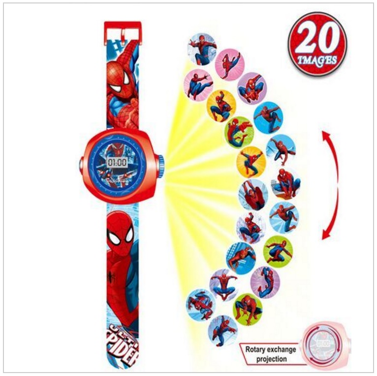 Dětské projekční hodinky - Spiderman / tnk-13-02117