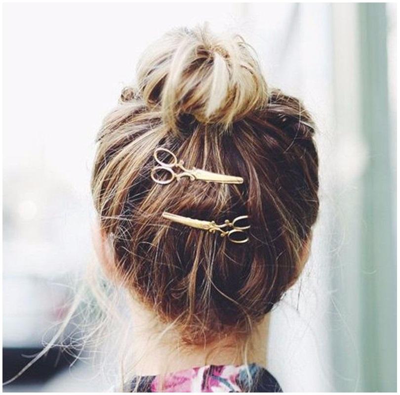 Sponka do vlasů - nůžky / dnk-13-01224