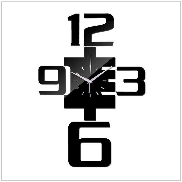 Nástěnné nalepovací hodiny / tnk-13-02153
