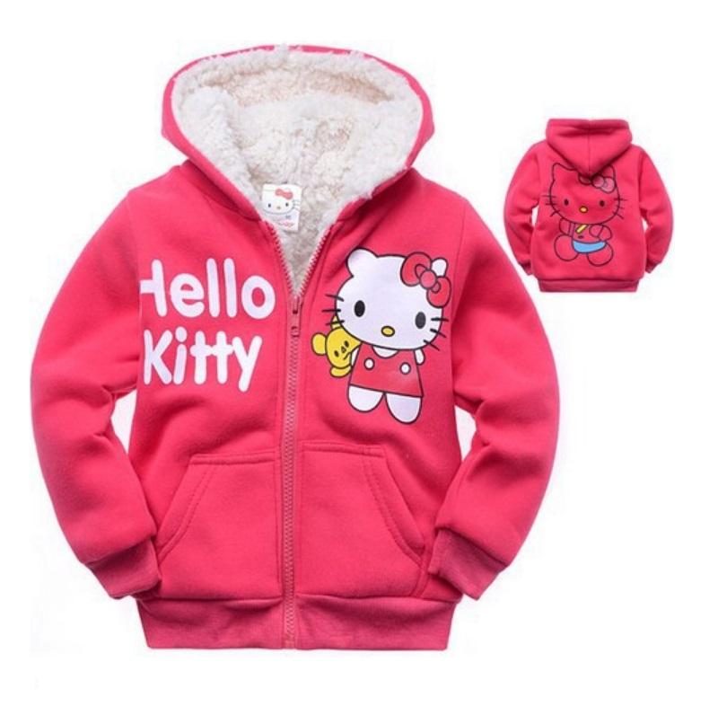 Dětská zateplená mikina - Hello Kitty / dnk-13-01248