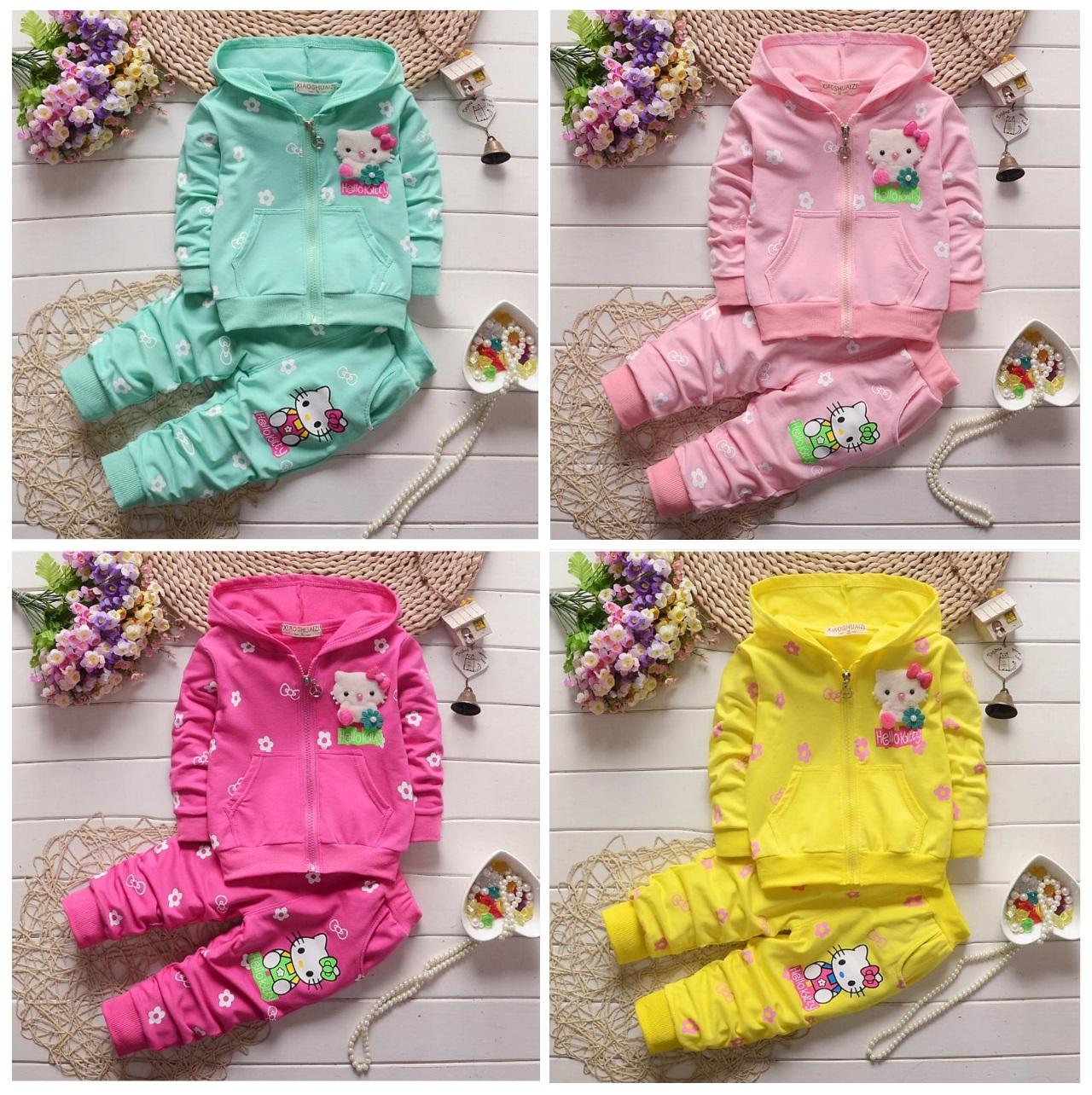 Dětská tepláková souprava - Hello Kitty / dnk-13-01257