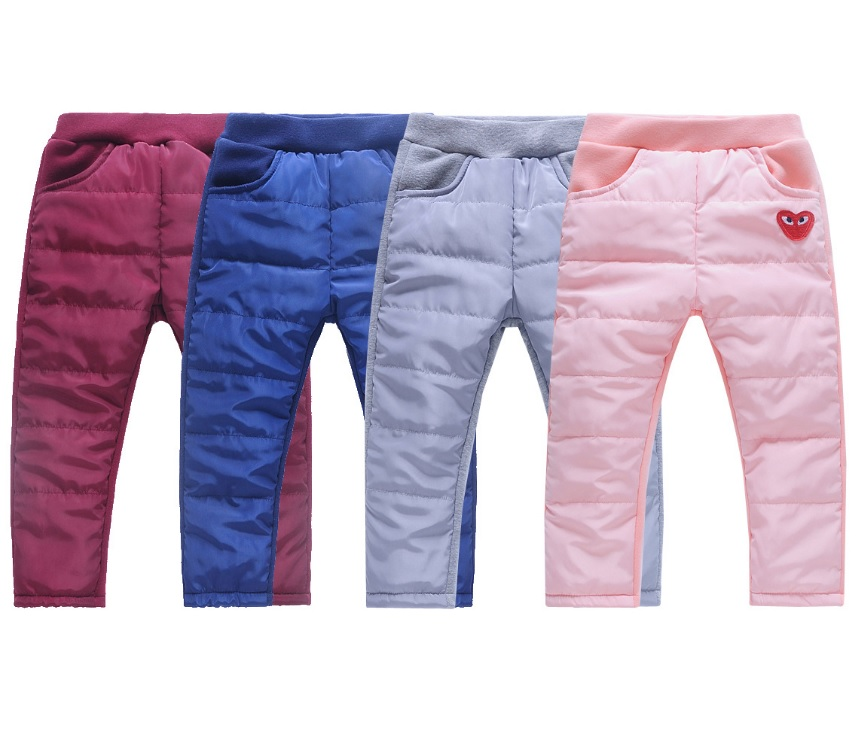 Dětské zateplené kalhoty / dnk-13-01268