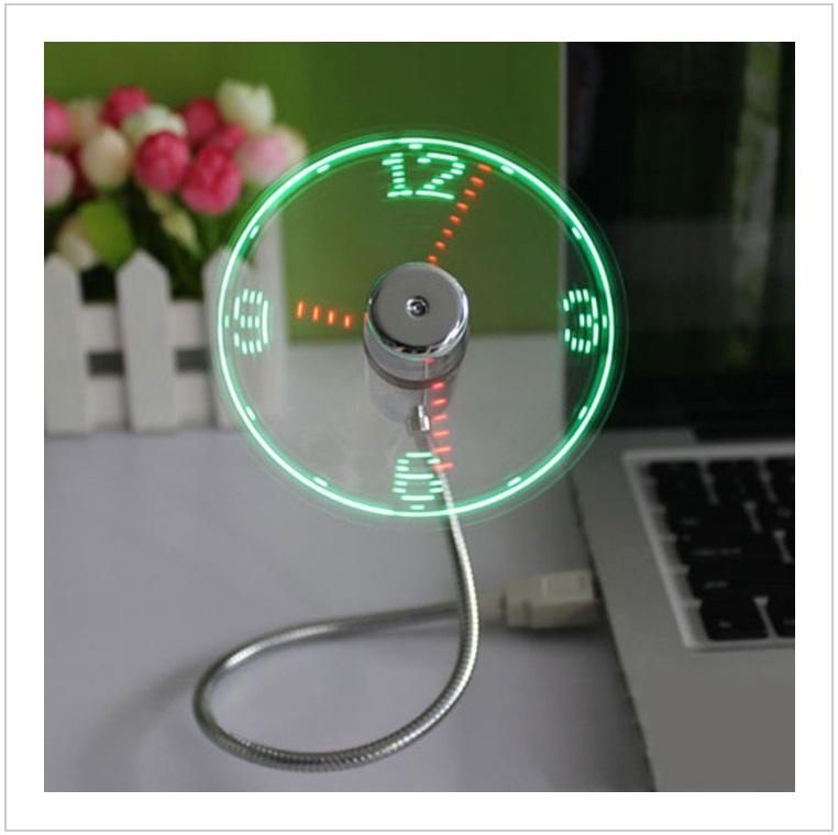 USB LED hodiny s ventilátorem / tnk-13-02289