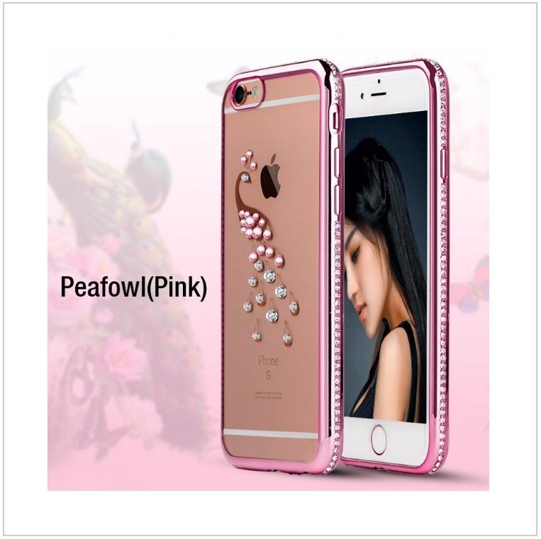 Pouzdro na mobil iPhone - Páv / tnk-13-02326a