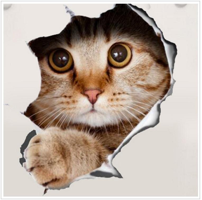 Samolepka na záchodové prkénko - kočka / dnk-13-01551