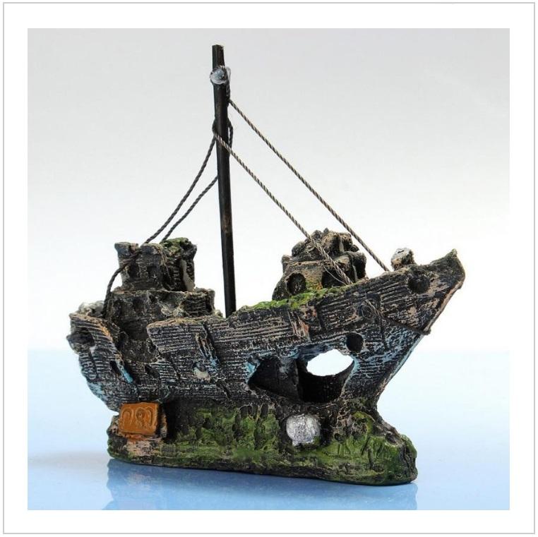 Dekorace do akvária - Loď / tnk-13-02647
