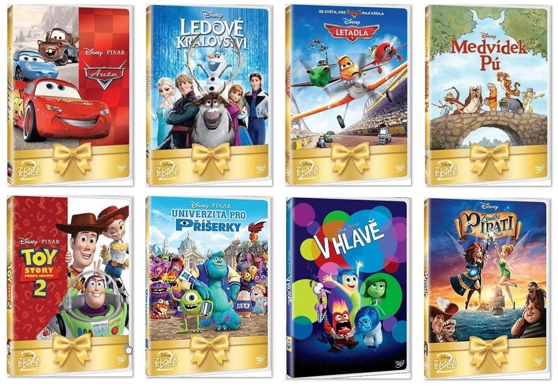 Dětské DVD pohádky (8 ks) / tnk-13-02649-I