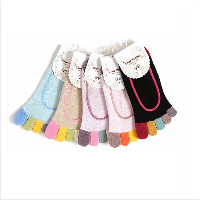 Dámské prstové kotníčkové ponožky / AD-00070