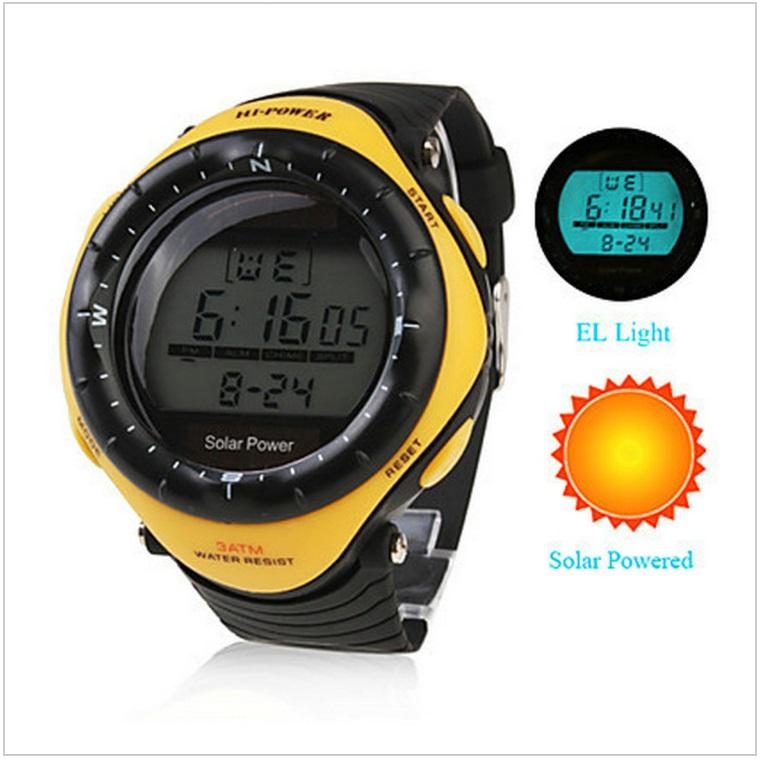 Pánské solární digitální hodinky / AT-00012a