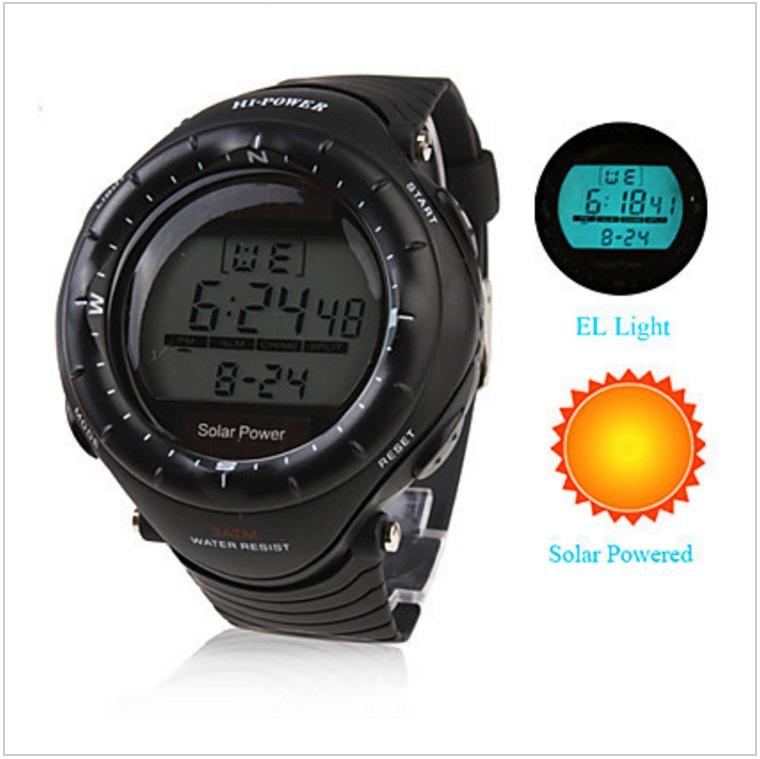 Pánské solární digitální hodinky / AT-00012b