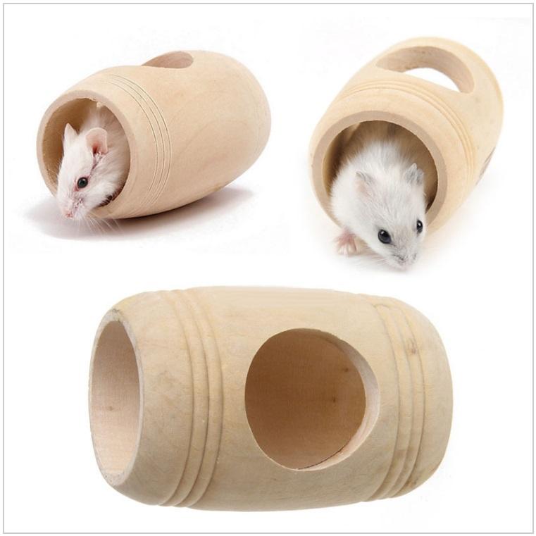Dřevěný domeček pro křečky, myši ... / AT-00019